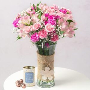 Birthday Flowers and Chocolates Gift