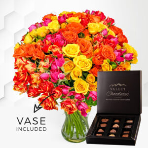 Spray Roses with Vase