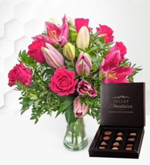 Rose & Lily with Chocolates